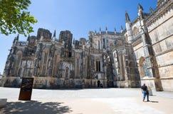 Monasterio de Batalha en Portugal Es un convento dominicano en la parroquia civil de Batalha en Portugal y se enumera en la UNESC Imagen de archivo
