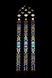 Monasterio de Batalha Ventana de cristal manchada gótica Imágenes de archivo libres de regalías