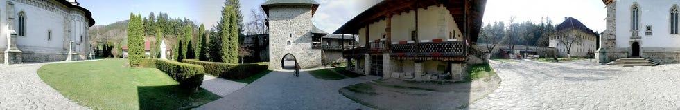 Monasterio de Bistrita, 360 grados de panorama Imagenes de archivo