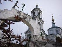 Monasterio de Borovsky del pafnutyev del St Región de Kaluga fotografía de archivo
