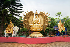 Monasterio de Buddhas de los diez milésimos Imagen de archivo