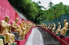 Monasterio de Buddhas de los diez milésimos (hombre Sze gordo) Foto de archivo libre de regalías