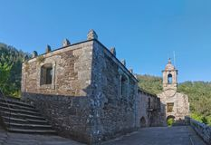 Monasterio De Caaveiro fotografia stock