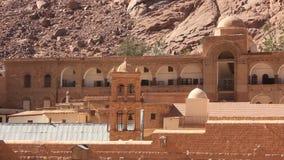 Monasterio de Catherines del santo. Península del Sinaí. Egipto almacen de metraje de vídeo
