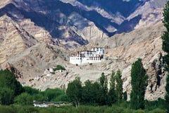 Monasterio de Chemdey, Leh-Ladakh, Jammu y Cachemira, la India fotos de archivo