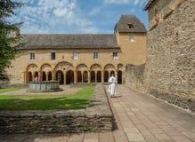 Monasterio de Conques en Francia Imagenes de archivo
