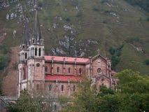 Monasterio de Covadonga Fotos de archivo libres de regalías