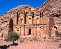 Monasterio de Ed Deir en el Petra Fotos de archivo libres de regalías
