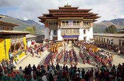Monasterio de Gangtey, Gangteng, Bhután Imagen de archivo