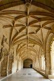 Monasterio de Hieronymites del claustro, Lisboa (Portugal) Imágenes de archivo libres de regalías