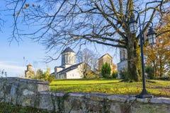 Monasterio de Incridible Martvili en otoño Foto de archivo libre de regalías