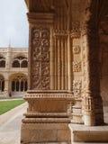 Monasterio de Jerònimos en Lisboa, detalle del claustro. Imagen de archivo libre de regalías