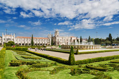Monasterio de Jeronimos en Lisboa Jeronimos Fotos de archivo