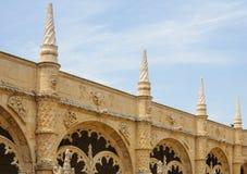 Monasterio de Jeronimos en Lisboa, Portugal Fotografía de archivo libre de regalías