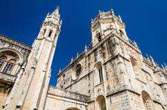 Monasterio de Jeronimos, Lisboa, Portugal Imagen de archivo libre de regalías