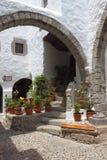 Monasterio de Juan la isla de Patmos del evangelista fotos de archivo
