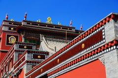Monasterio de Kumbum, taersi, en Qinghai, China foto de archivo libre de regalías