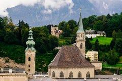 Monasterio de la abadía del ` franciscano s de la iglesia y de San Pedro, Salzburg, Aust Fotografía de archivo libre de regalías