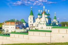Monasterio de la ascensión de Pechersky en Nizhny Novgorod Imágenes de archivo libres de regalías