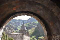 Monasterio de la cueva de Geghard Imagen de archivo libre de regalías