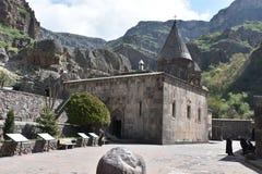 Monasterio de la cueva de Geghard Imagenes de archivo