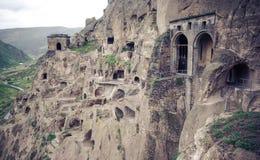 Monasterio de la cueva de Vardzia, Georgia Foto de archivo libre de regalías