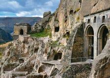 Monasterio de la cueva en Vardziya imágenes de archivo libres de regalías