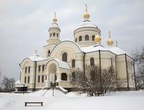 Monasterio de la hembra de Novo-Tikhvin. Fotos de archivo libres de regalías
