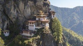 Monasterio de la jerarquía del ` s del tigre Reino de Bhután Imagen de archivo