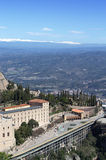 Monasterio de la montaña de Montserrat, España Fotografía de archivo libre de regalías