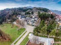 Monasterio de la natividad de la Virgen María bendecida en Cetinje imágenes de archivo libres de regalías