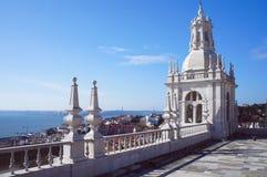 Monasterio de la opinión del tejado de Vicente de Fora del sao Foto de archivo libre de regalías