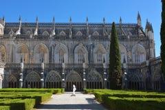 Monasterio de la región Portug de Santa Maria da Vitoria Batalha Centro Foto de archivo