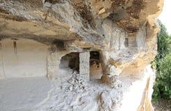 Monasterio de la roca de ALADZA, Bulgaria Imagenes de archivo