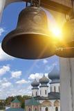 Monasterio de la suposición de Tikhvin, un ortodoxo ruso, Tihvin, región de St Petersburg, Rusia Imagenes de archivo