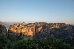 Monasterio de la trinidad santa en Meteora foto de archivo