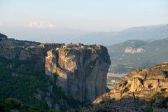 Monasterio de la trinidad santa en Meteora fotos de archivo