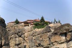 Monasterio de la trinidad santa, Meteora Imágenes de archivo libres de regalías