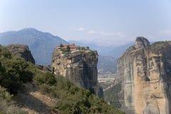 Monasterio de la trinidad santa, Meteora Fotos de archivo libres de regalías
