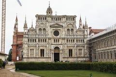 Monasterio de los di Pavía, Italia de Certosa foto de archivo