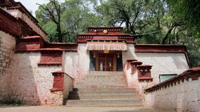 Monasterio de los sueros en Tíbet Imagen de archivo