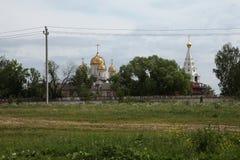 Monasterio de Luzhetsky en Mozhaysk cerca de Moscú, Rusia Fotografía de archivo
