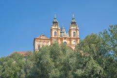 Monasterio de Melk, Wachau, el río Danubio, Austria Imagenes de archivo
