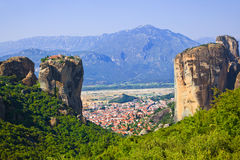 Monasterio de Meteora en Grecia Fotografía de archivo libre de regalías