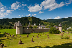 Monasterio de Moldovita en verano Imágenes de archivo libres de regalías