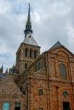 Monasterio de Mont St Michel Imagenes de archivo