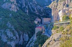 Monasterio de Montserrat cerca de Barcelona, España Fotografía de archivo