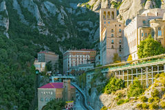 Monasterio de Montserrat cerca de Barcelona, España Imágenes de archivo libres de regalías
