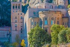 Monasterio de Montserrat cerca de Barcelona, España Fotos de archivo