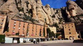 Monasterio de Montserrat cerca de Barcelona, España Foto de archivo libre de regalías